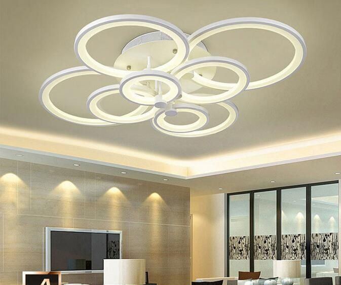 Circle LED acrylic ceiling lamp