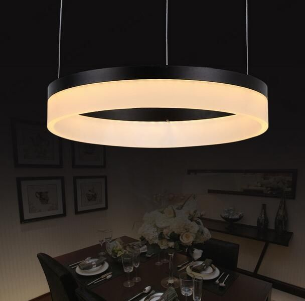 Black acrylic LED pendant light