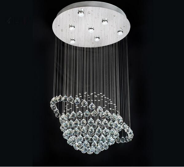 Crystal ceiling light for living room