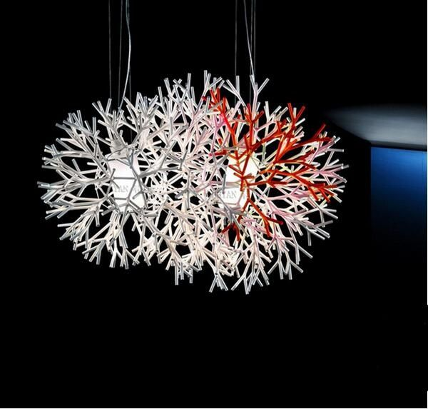 Creative coral pendant light