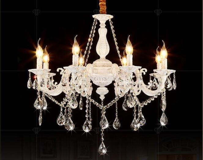 Zinc alloy crystal chandelier