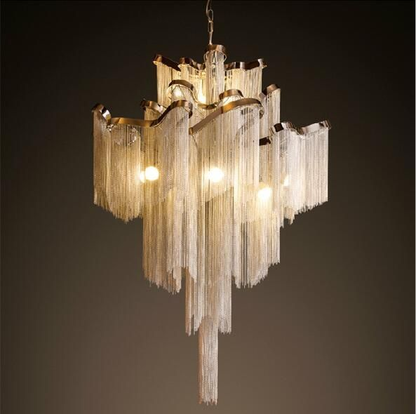 Graceful aluminium chain chandeleir