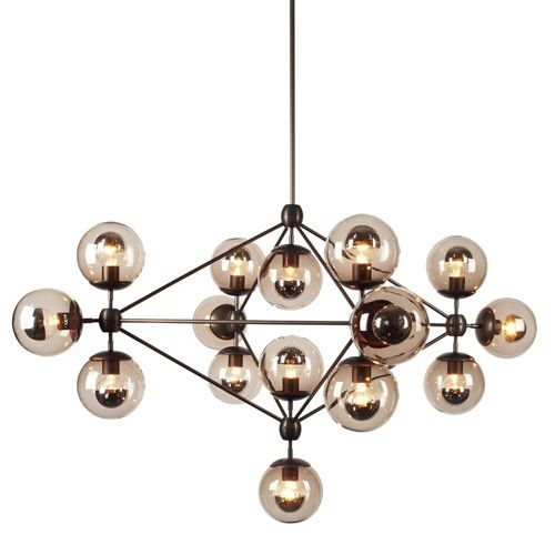 Northern Europe style glass pendant light