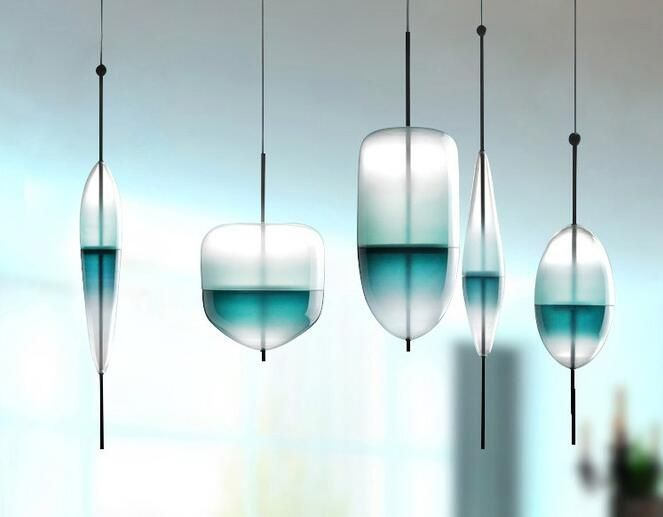 product by pendant ideahomeco bubble glass original ombre lamp blue bell