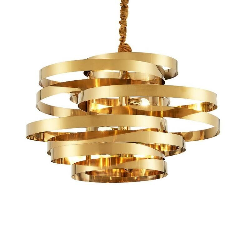 Stainless steel ring pendant light