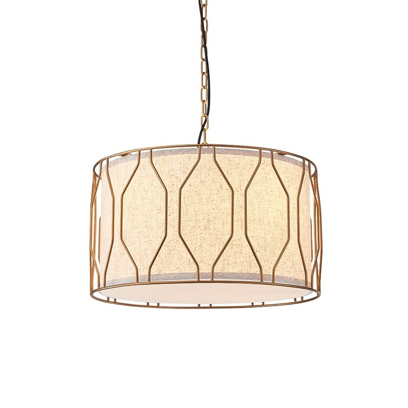 Pendant light with fabric shade