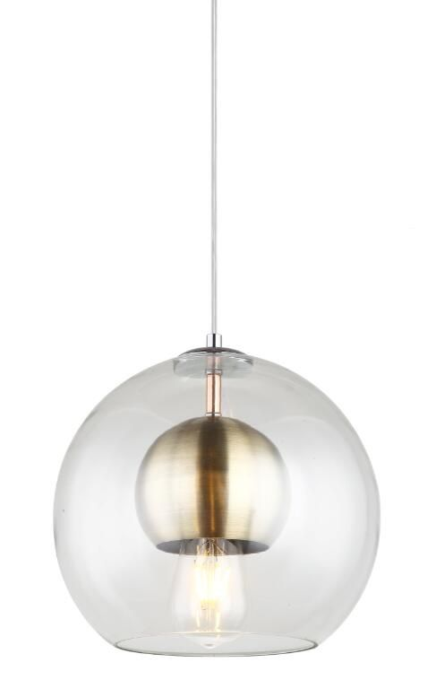 Copper glass pendant light