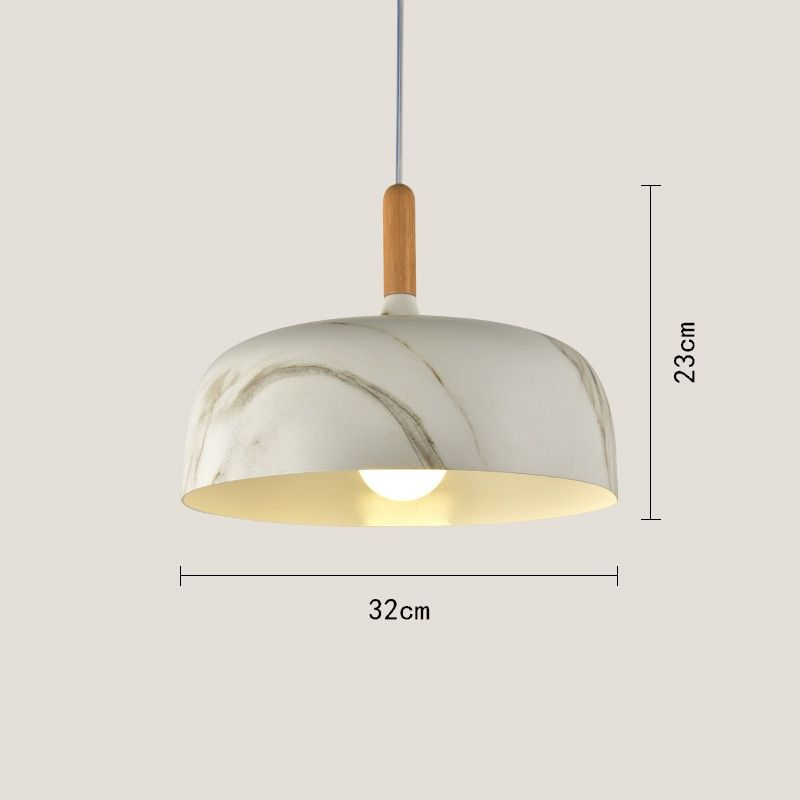 Wood grain pendant lamp