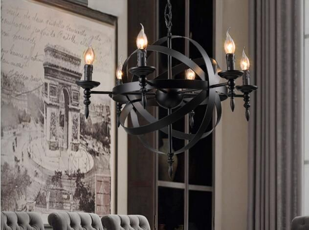 Wrought iron pendant lamp