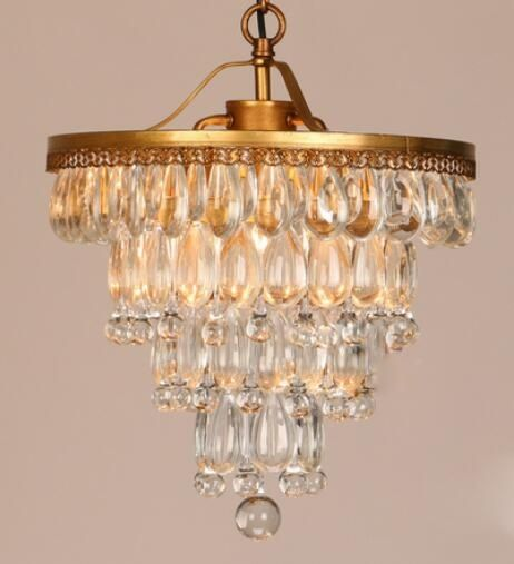 Crystal gold pendant lamp