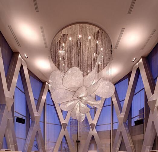 Graceful crystal ceiling lamp