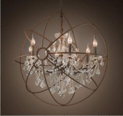 Loft crystal pendant light