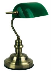 Bronze bank table lamp