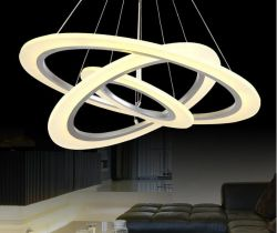 LED acrylic ring pendant light