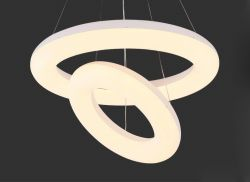 2 circles LED pendant light