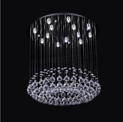 Round crystal ceiling lamp for living room