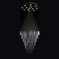 Large crystal ceiling lamp
