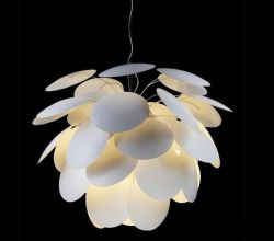White aluminium material pendant light
