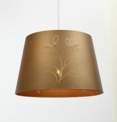 Fabric pendant light
