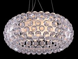 Acrylic ball pendant light