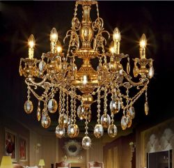 Luxurious gold chandeliers