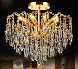 Gold K9 crystal candle chandelier