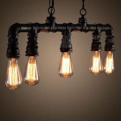 Black industrail hanging pendant light