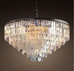 Vintage crystal pendant light