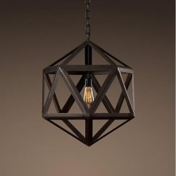 Black rhombus pendant light