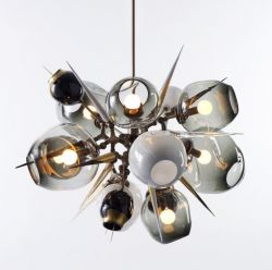 Originality Smoky grey glass chandelier