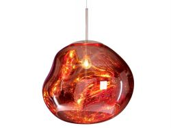 Red glass pendant light