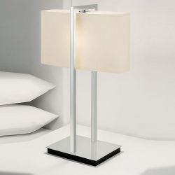 Fabric table lamp for guest room