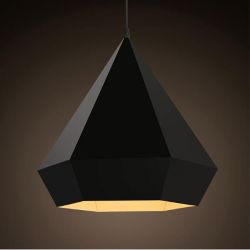 Black diamond pendant light