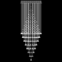 Ceiling mounting crystal lamp