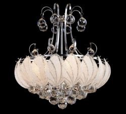 Leaf glass chandelier