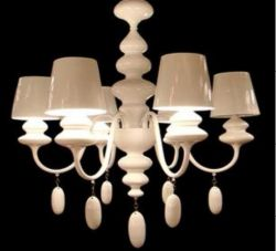 Graceful white chandelier